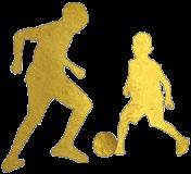 Illustration de deux enfants jouant au football