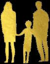 Illustration représentant un couple tenat la main de leur enfant
